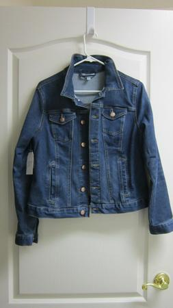 Time And Tru Women's Denim Stretch Jean Jacket Med Wash Size