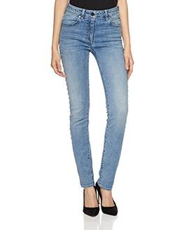 HALE Women's Elba Iconic Straight Leg Jean with Studs 25 Cor