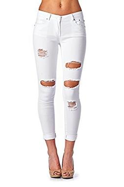 Women's Hight Waisted Butt Lift Stretch Ripped Skinny Jeans