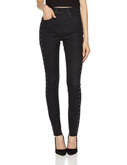 HALE Women's Holly Sculpted High Rise Skinny Jean with Embro