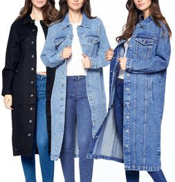 women s maxi length denim cotton oversize