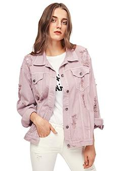 women s ripped distressed casual long sleeve