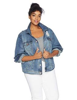 dollhouse Women's Size Genesis Plus Denim Jacket, 3X