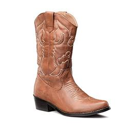 SheSole Women's Western Cowgirl Cowboy Boots Tan Size 8