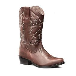 SheSole Women's Western Cowgirl Cowboy Brown Boots Size 8