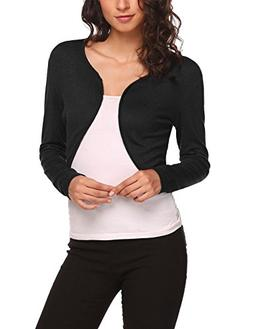 women solid bolero jackets long sleeved bolero