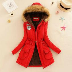 women winter long sleeve faux fur hooded