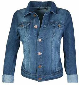 dollhouse Women's Basic Denim Jean Jacket