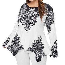 EraseSIZE Women's Winter Warm and Soft Plus Size Long Slee